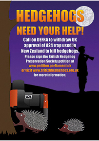Our campaign against A24 trap that kills hedgehogs!